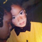 Winnie Harlow in her childhood