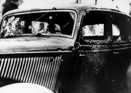 Death car of Bonnie and Clyde