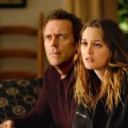 Hugh Laurie and Leighton Meester