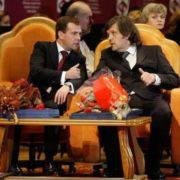 Emir Kusturica and Dmitry Medvedev