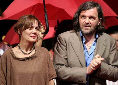 Kusturica and his wife