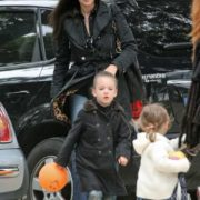 Monica Bellucci and her children