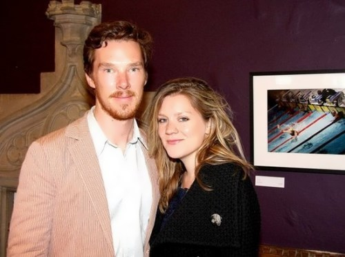 Olivia Poulet and Cumberbatch