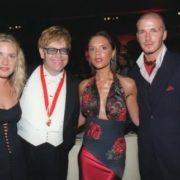 Kate, Elton John, Victoria and David Backham