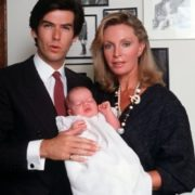 Cassandra Harris and Pierce Brosnan