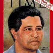 Cesar Chavez on the cover of Time magazine