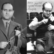 David Oistrakh changes strings in his Stradivarius Marsik