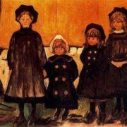 Four girls in Aasgaardstrand