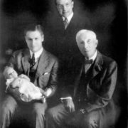 John Rockefeller with his son, grandson and great-grandson, circa 1932