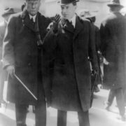 John Rockefeller with his son in 1915