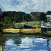 Lubeck Harbor in Holstentor, 1907