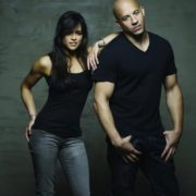Michelle Rodriguez and Vin Diesel