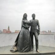 Monument to Rainier III and Grace Kelly
