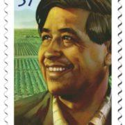 Postage stamp dedicated to Cesar Chavez