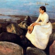 Summer night Inger on the shore, 1889
