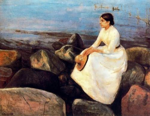 Summer night Inger on the shore, 1889