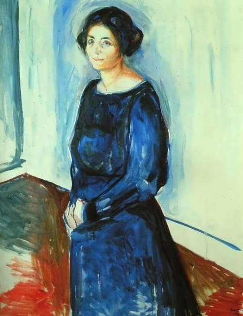 Woman in blue (Frau Barth), 1921