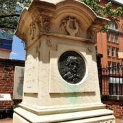 Monument on the grave of Edgar Poe in Baltimore