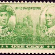 Stamp dedicated to John Paul Jones