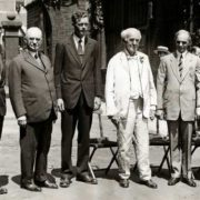 Awarding Committee. In the photo, George Eastman, Charles Lindbergh, Thomas Alva Edison, Henry Ford and others