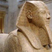 Granite Sphinx with Hatshepsut Face