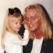 Jani Lane with his daughter
