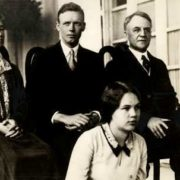 Lindbergh, Anna Morrow and her parents, 1929