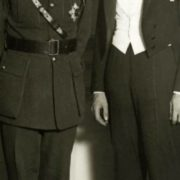 Lindbergh in Brussels with the Duke of Brabant, 1927
