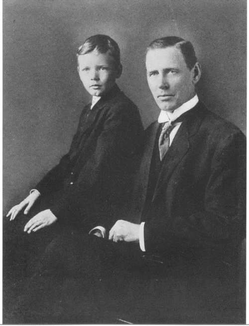 Lindbergh with his father