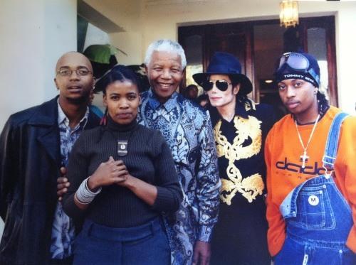 Michael Jackson and Mandela