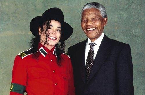 Michael Jackson and Nelson Mandela