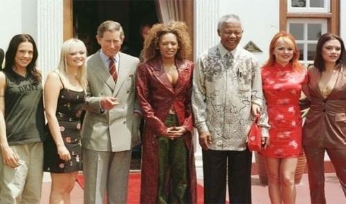 Spice Girls and Nelson Mandela