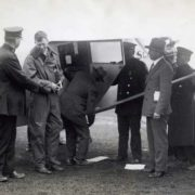 The Spirit of St. Louis a minute before the famous flight, New York. May 20, 1927