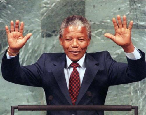 Well-known Nelson Mandela