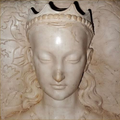 Agnes Sorel, as depicted in her tomb in Loches