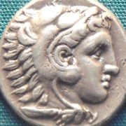 Coin with the portrait of Alexander the Great