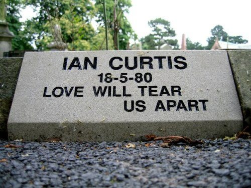 Grave of Ian Curtis