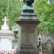 Gravestone on the tomb of Balzac