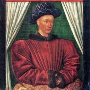 Jean Fouquet. Portrait of Charles VII. Around 1444, Paris, the Louvre
