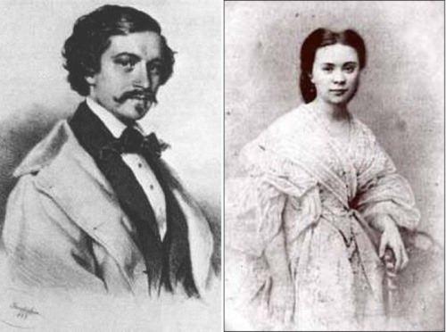 Johann Strauss and Olga Smirnitskaya