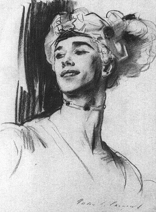 John Singer Sargent. Vaslav Nijinsky