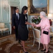 Queen Elizabeth II and the Obamas
