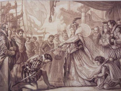 Queen Elizabeth knighted Captain Drake