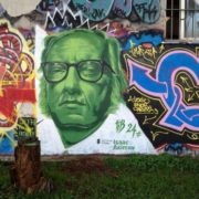 Graffiti dedicated to Asimov