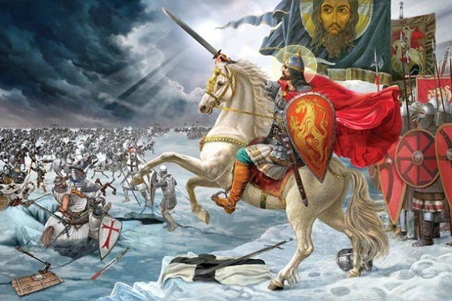 Prince Alexander Nevsky at the Battle on the Ice