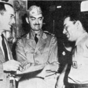 Robert Heinlein, Lyon Sprague de Camp and Isaac Asimov during the service in the army