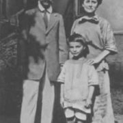 A. Skryabin with his wife and son Julian