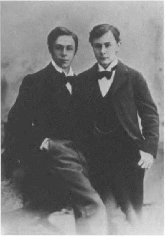 A.N. Scriabin and Joseph Hoffmann in their youth