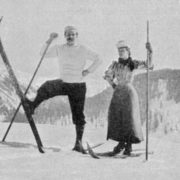 Arthur Conan Doyle is skiing