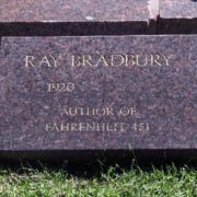 Bradbury, author of Fahrenheit 451